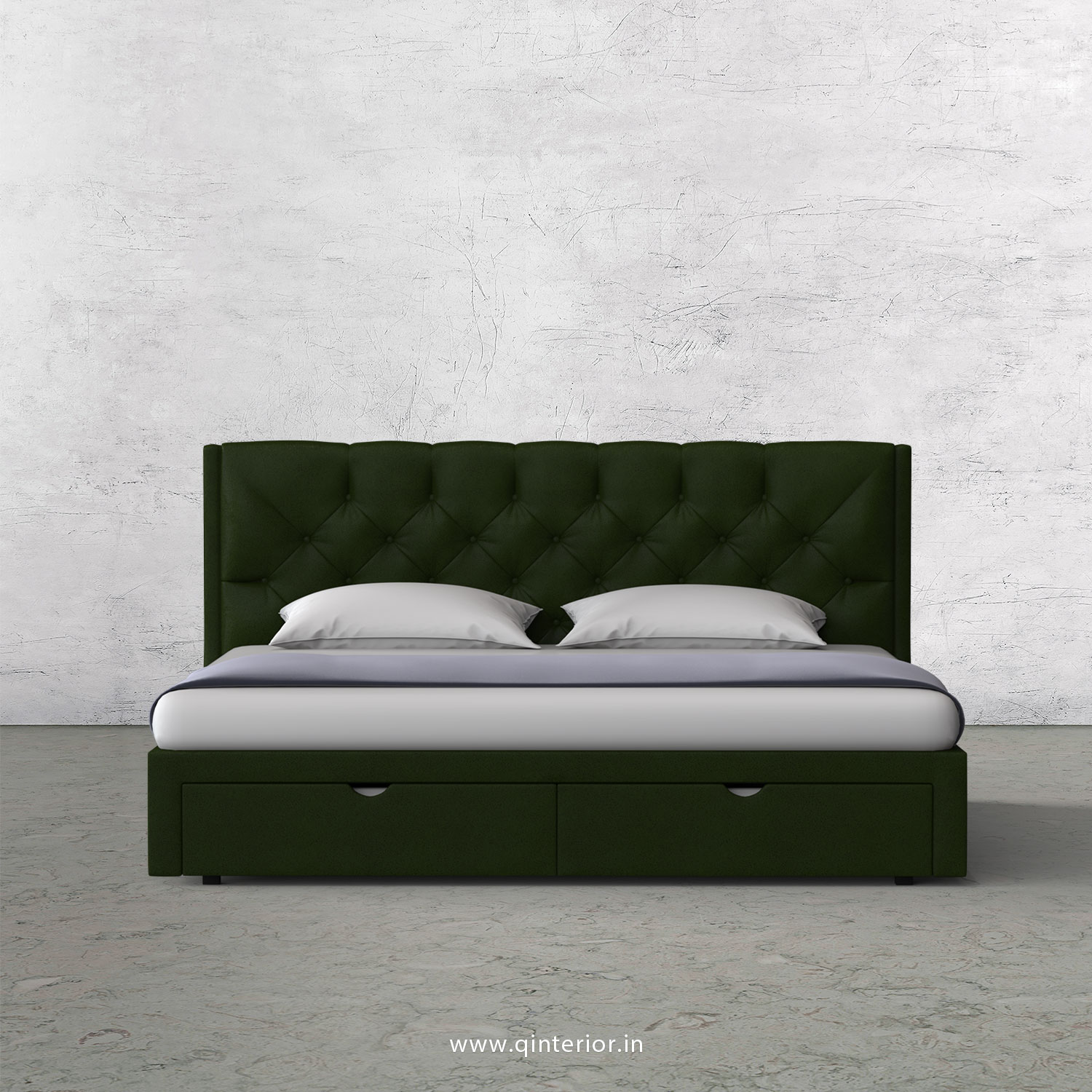 Scorpius King Size Storage Bed in Fab Leather Fabric - KBD001 FL04