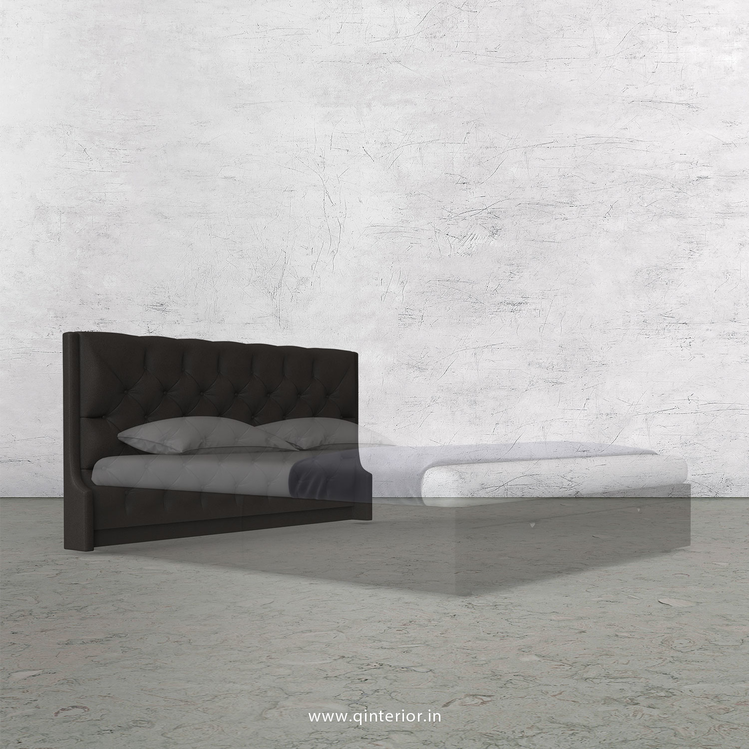 Scorpius Bed Headboard in Fab Leather Fabric - BHB002 FL15