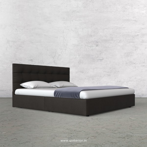 Lyra King Size Bed in Fab Leather Fabric - KBD009 FL15