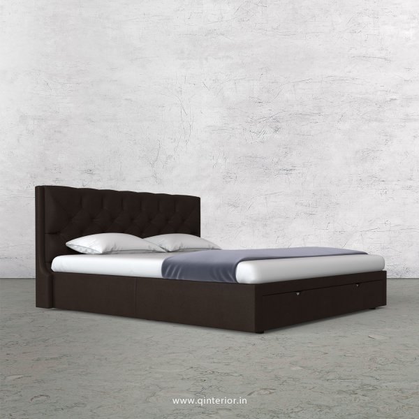 Scorpius Queen Storage Bed in Fab Leather Fabric - QBD001 FL16