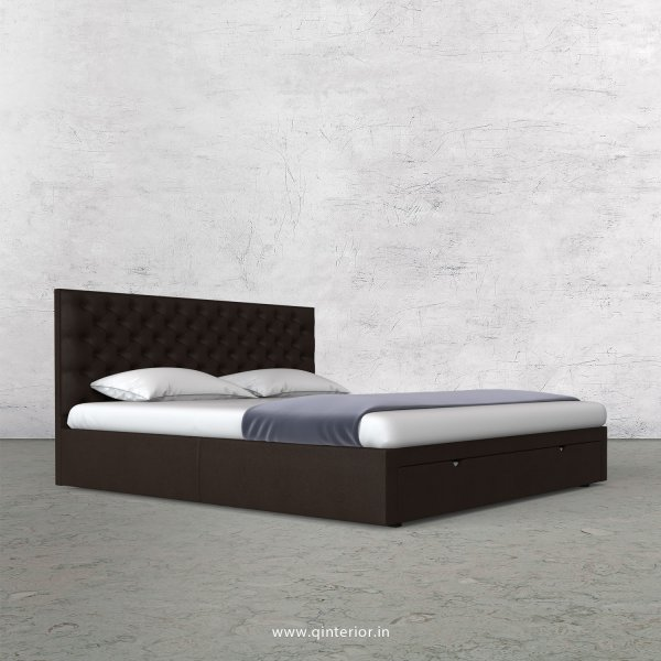 Orion King Size Storage Bed in Fab Leather Fabric - KBD001 FL16