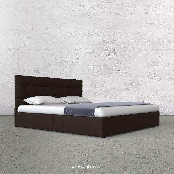 Lyra King Size Bed in Fab Leather Fabric - KBD009 FL16