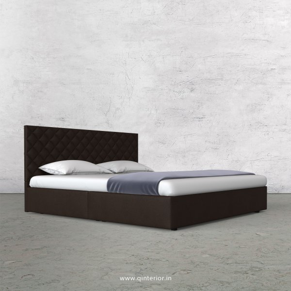 Aquila Queen Bed in Fab Leather Fabric - QBD009 FL16
