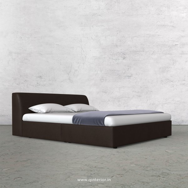 Luxura Queen Sized Bed in Fab Leather Fabric - QBD009 FL16