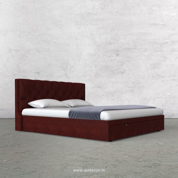 Scorpius King Size Storage Bed in Fab Leather Fabric - KBD001 FL17