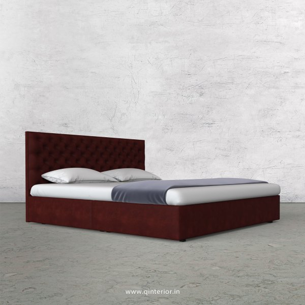 Orion King Size Bed in Fab Leather Fabric - KBD009 FL17
