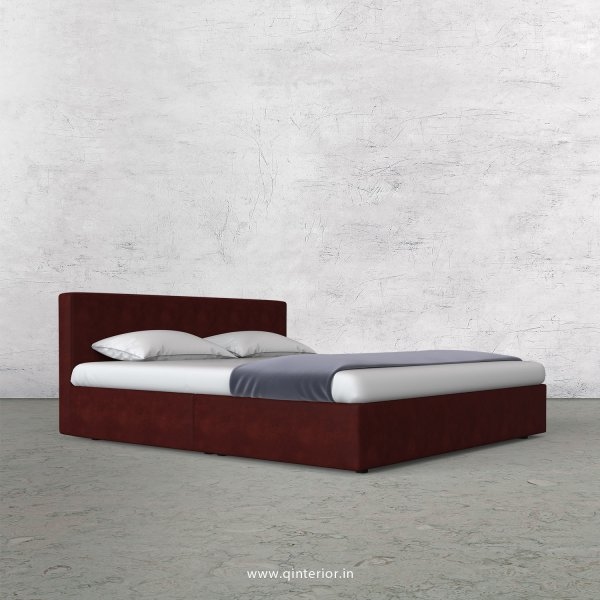 Nirvana Queen Bed in Fab Leather Fabric - QBD009 FL17