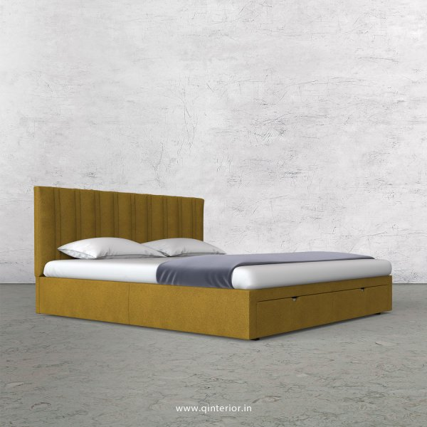 Leo King Size Storage Bed in Fab Leather Fabric - KBD001 FL18