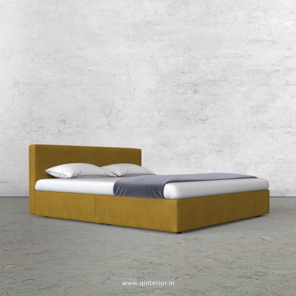 Nirvana King Size Bed in Fab Leather Fabric - KBD009 FL18