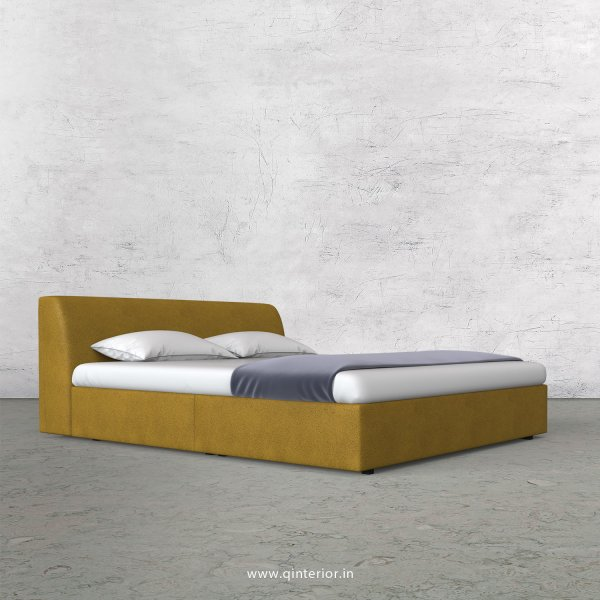 Luxura King Size Bed in Fab Leather Fabric - KBD009 FL18