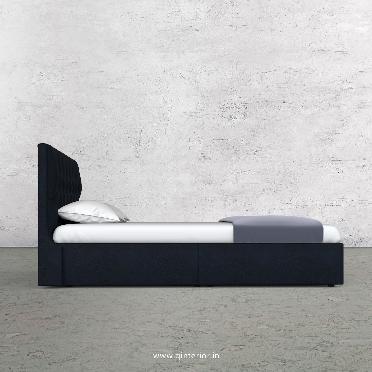 Scorpius Queen Storage Bed in Fab Leather Fabric - QBD001 FL05