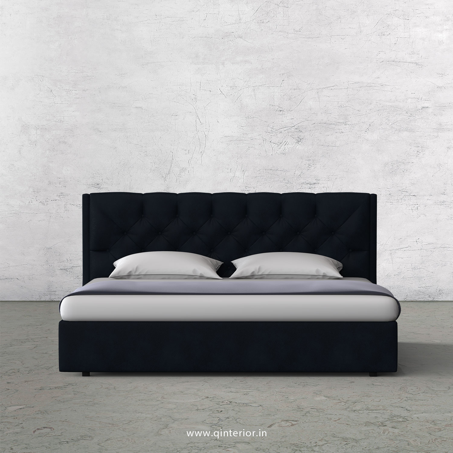 Scorpius Queen Bed in Fab Leather Fabric - QBD009 FL05