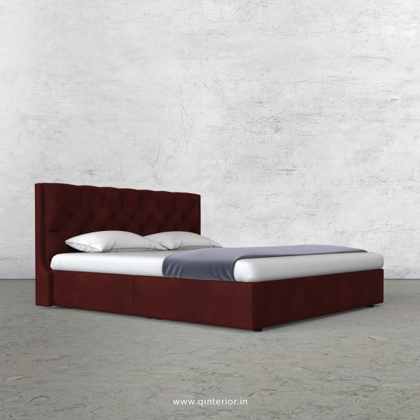 Scorpius King Size Bed in Fab Leather Fabric - KBD009 FL08