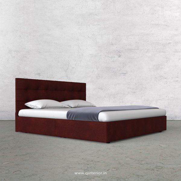 Lyra Queen Bed in Fab Leather Fabric - QBD009 FL08