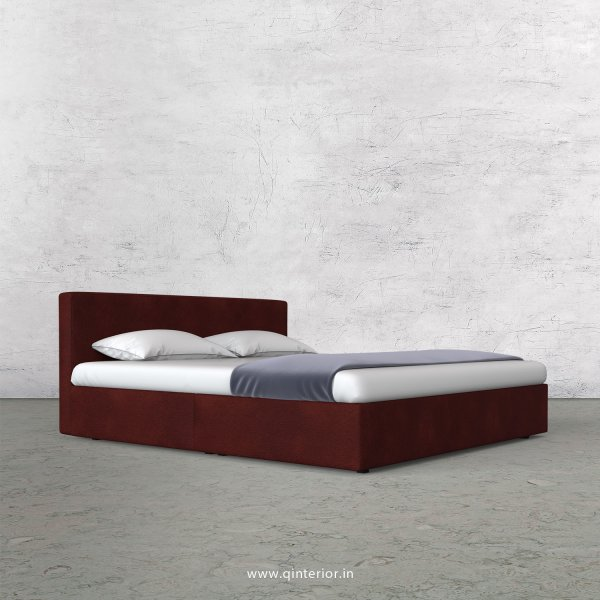 Nirvana Queen Bed in Fab Leather Fabric - QBD009 FL08