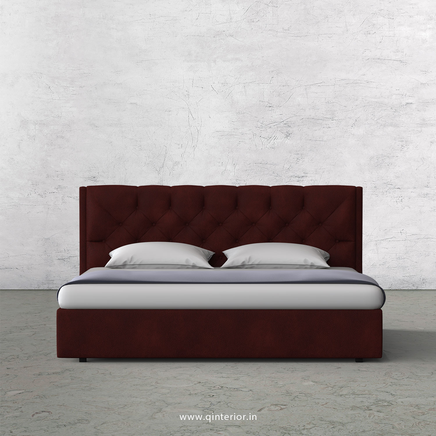 Scorpius Queen Bed in Fab Leather Fabric - QBD009 FL08
