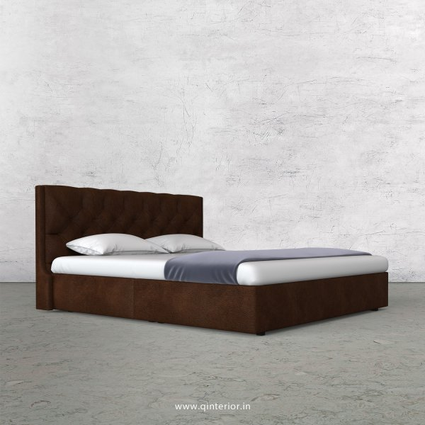 Scorpius Queen Bed in Fab Leather Fabric - QBD009 FL09