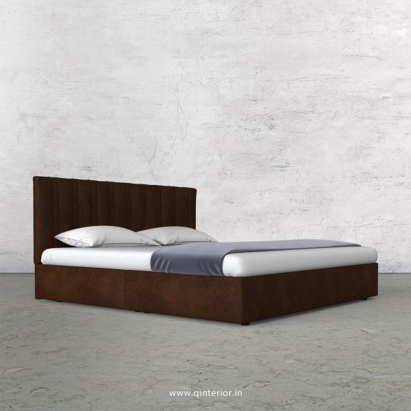 Leo Queen Bed in Fab Leather Fabric - QBD009 FL09