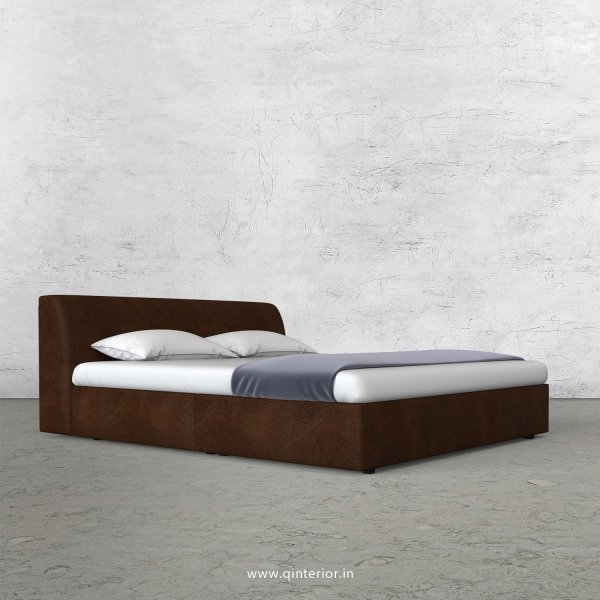 Luxura Queen Sized Bed in Fab Leather Fabric - QBD009 FL11