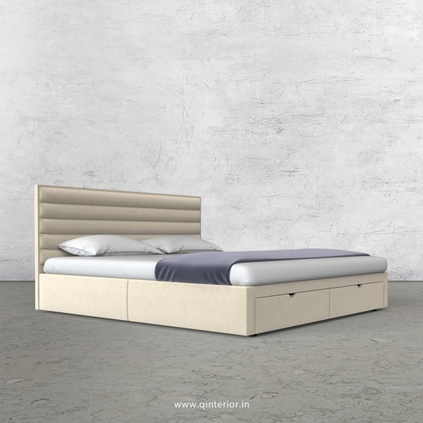 Crux Queen Storage Bed in Velvet Fabric - QBD001 VL01