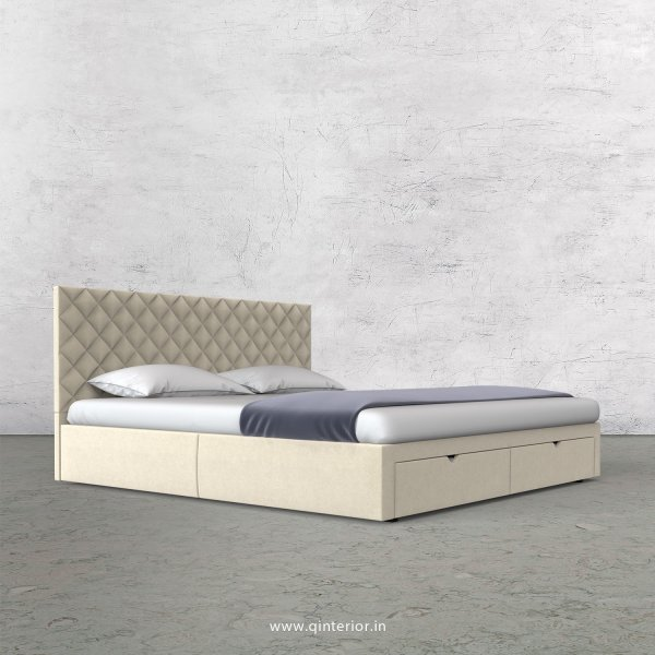 Aquila King Size Storage Bed in Velvet Fabric - KBD001 VL01