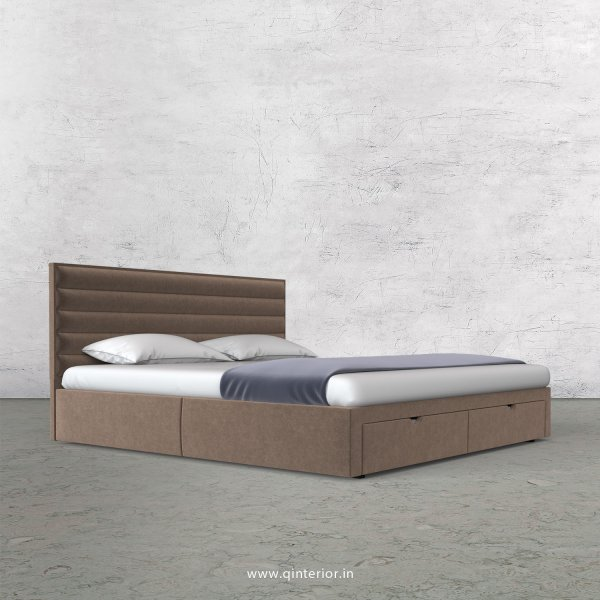 Crux King Size Storage Bed in Velvet Fabric - KBD001 VL02