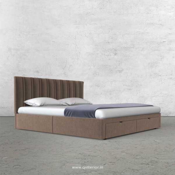 Leo Queen Storage Bed in Velvet Fabric - QBD001 VL02