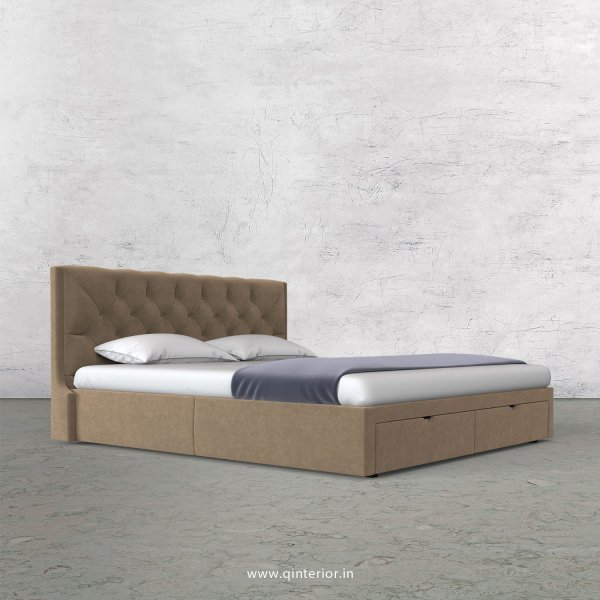 Scorpius King Size Storage Bed in Velvet Fabric - KBD001 VL03