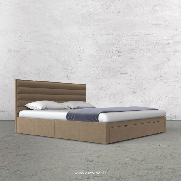 Crux King Size Storage Bed in Velvet Fabric - KBD001 VL03