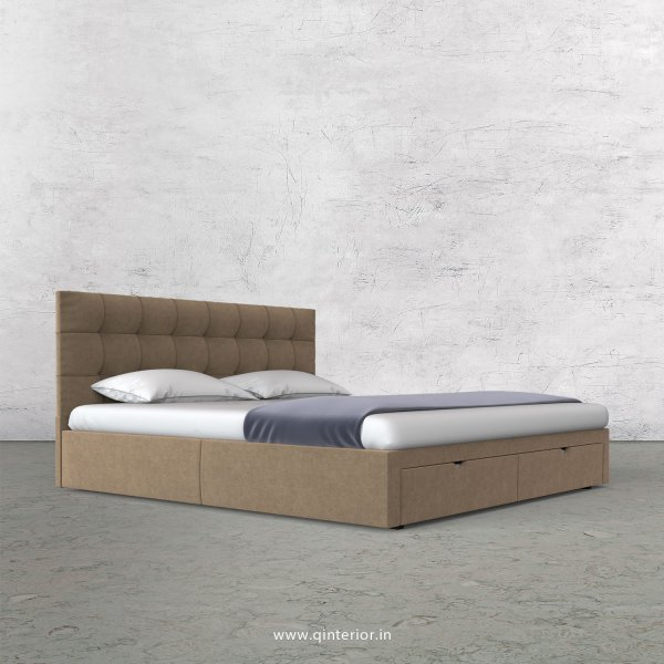 Lyra King Size Storage Bed in Velvet Fabric - KBD001 VL03