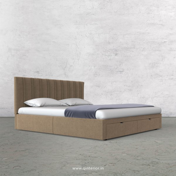 Leo King Size Storage Bed in Velvet Fabric - KBD001 VL03