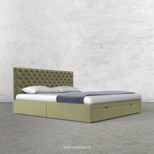 Orion King Size Storage Bed in Velvet Fabric - KBD001 VL04