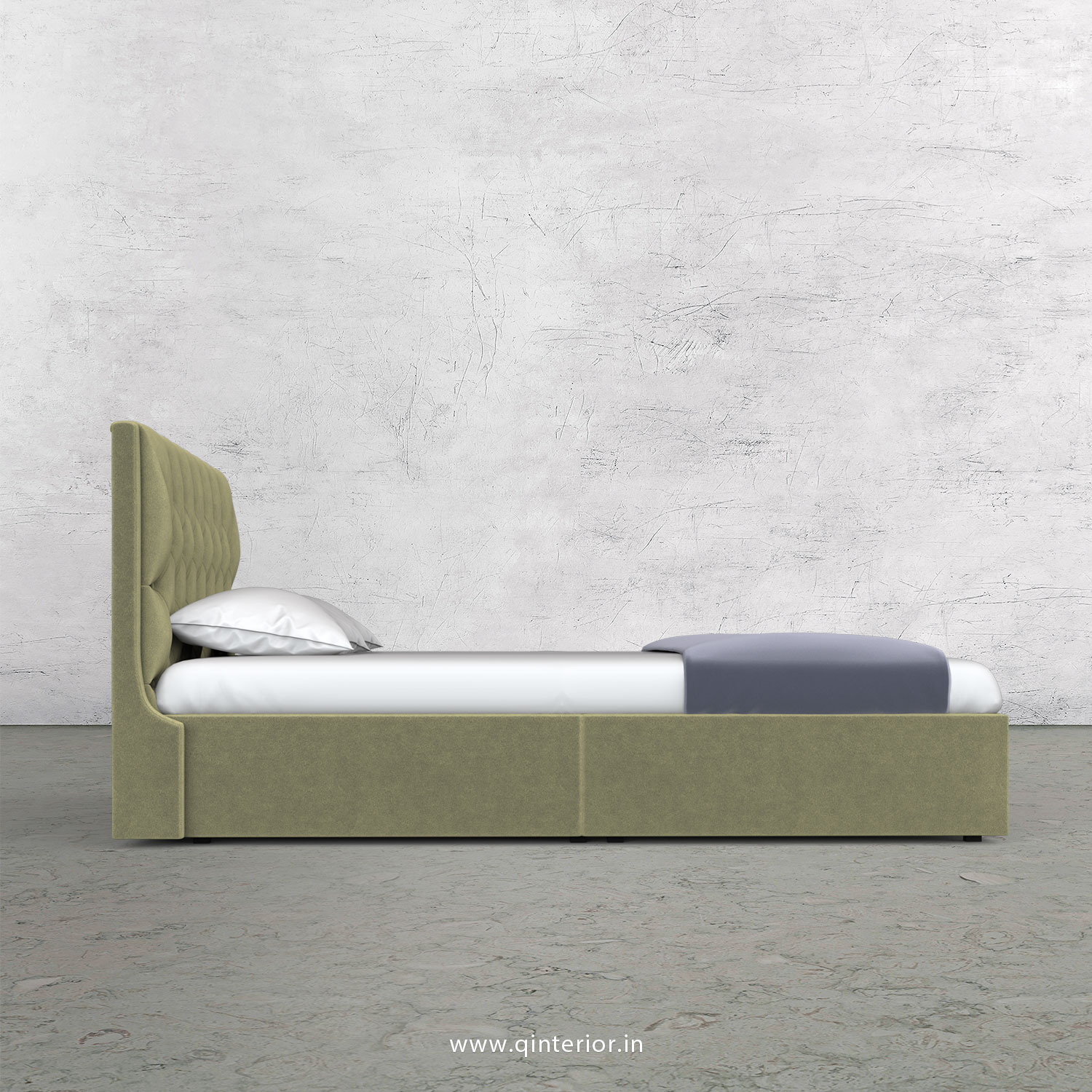 Scorpius King Size Storage Bed in Velvet Fabric - KBD001 VL04