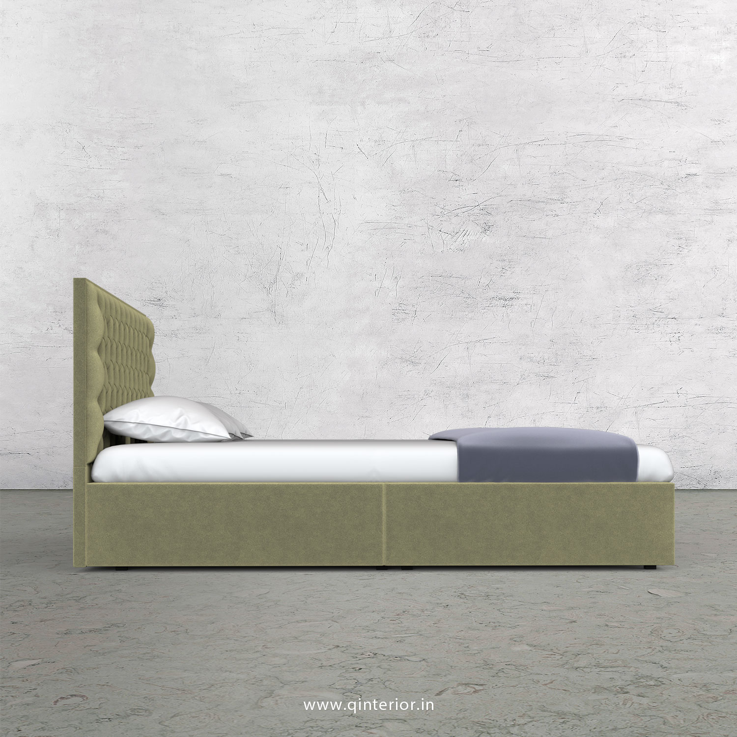 Orion Queen Storage Bed in Velvet Fabric - QBD001 VL04