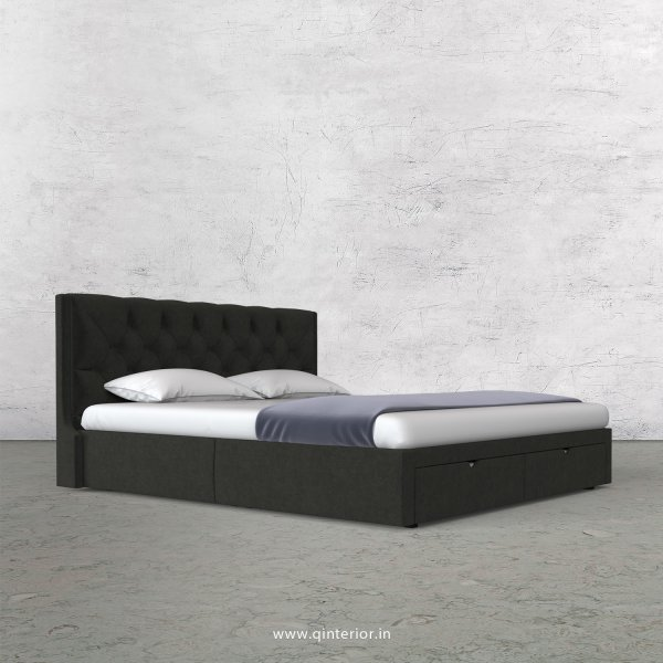 Scorpius King Size Storage Bed in Velvet Fabric - KBD001 VL07