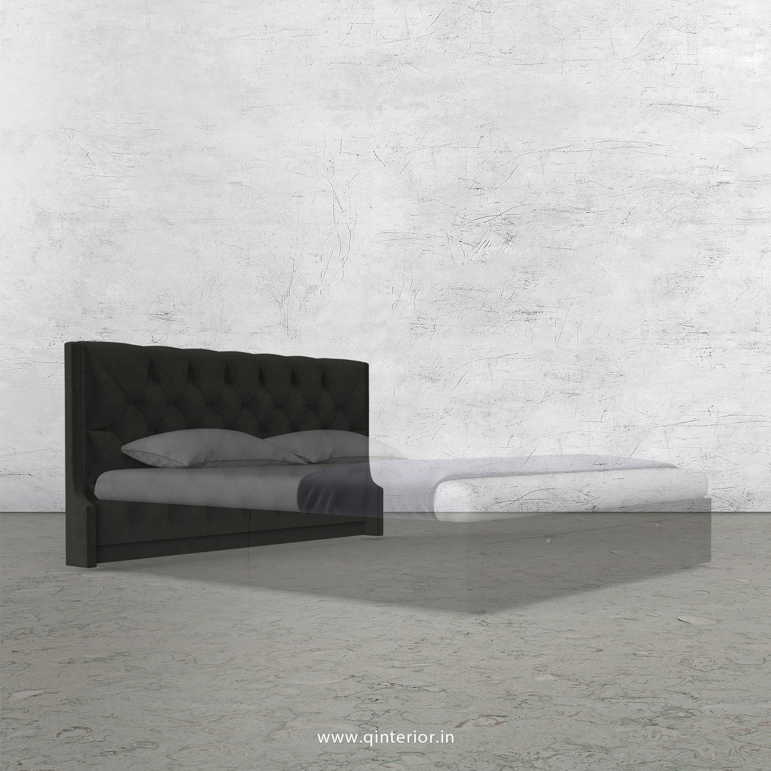 Scorpius Bed Headboard in Velvet Fabric - BHB002 VL07