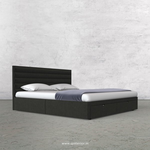 Crux Queen Storage Bed in Velvet Fabric - QBD001 VL07