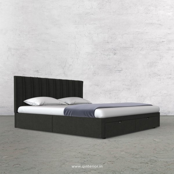 Leo Queen Storage Bed in Velvet Fabric - QBD001 VL07
