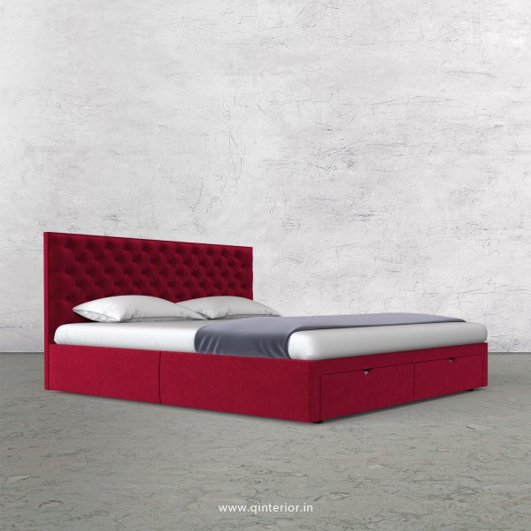 Orion King Size Storage Bed in Velvet Fabric - KBD001 VL08