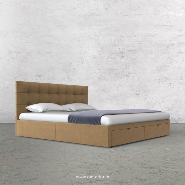 Lyra Queen Storage Bed in Velvet Fabric - QBD001 VL09