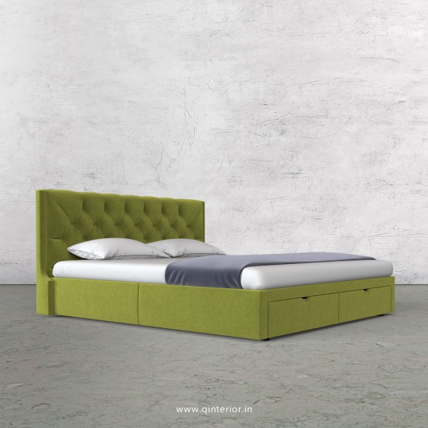 Scorpius King Size Storage Bed in Velvet Fabric - KBD001 VL10