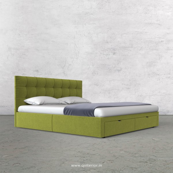Lyra Queen Storage Bed in Velvet Fabric - QBD001 VL10