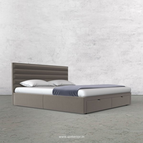 Crux King Size Storage Bed in Velvet Fabric - KBD001 VL12