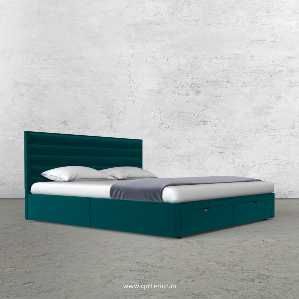Crux King Size Storage Bed in Velvet Fabric - KBD001 VL13