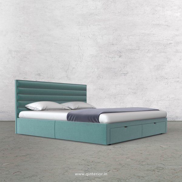Crux King Size Storage Bed in Velvet Fabric - KBD001 VL14