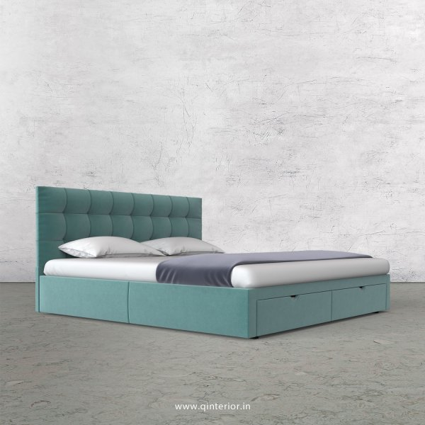 Lyra King Size Storage Bed in Velvet Fabric - KBD001 VL14