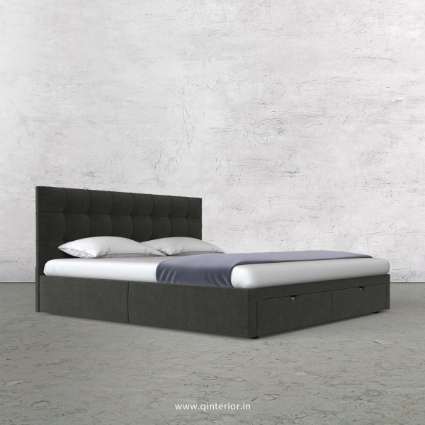 Lyra Queen Storage Bed in Velvet Fabric - QBD001 VL15