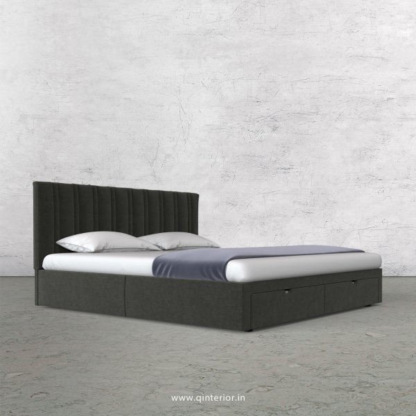 Leo Queen Storage Bed in Velvet Fabric - QBD001 VL15