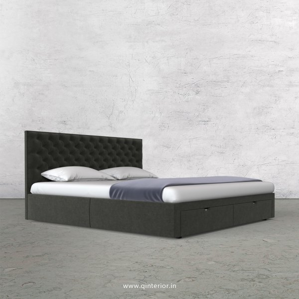 Orion Queen Storage Bed in Velvet Fabric - QBD001 VL15