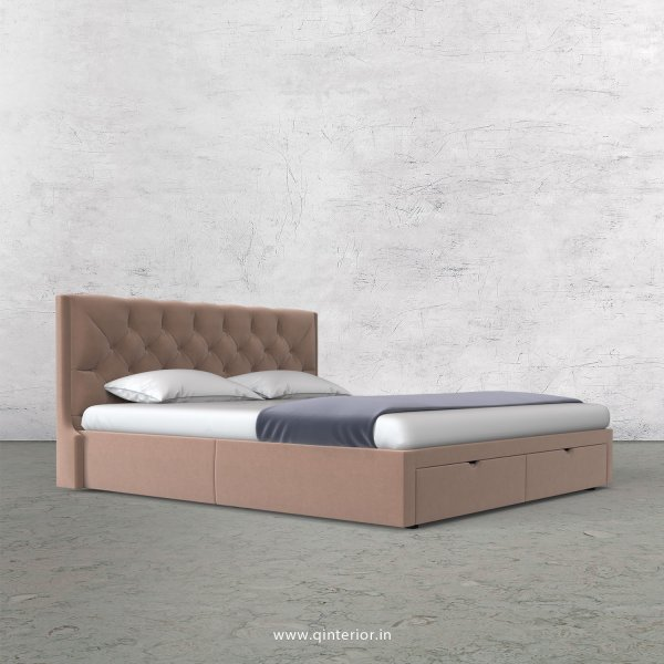Scorpius Queen Storage Bed in Velvet Fabric - QBD001 VL16